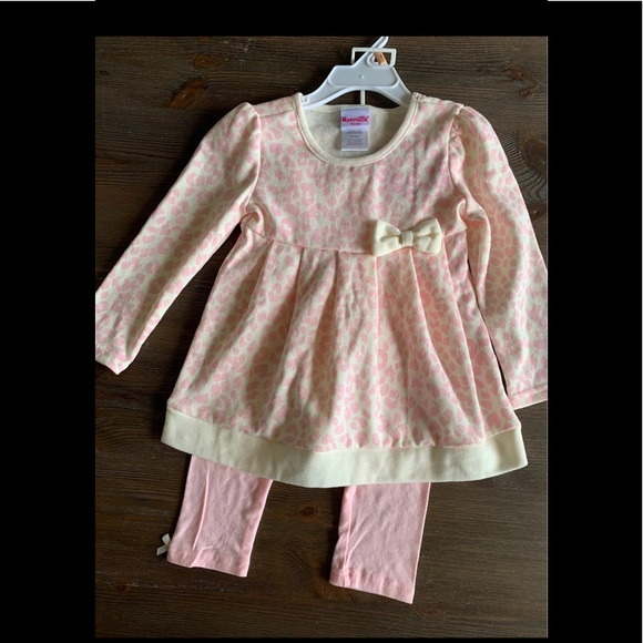 NWT nanette kids outfit girls Sz 2T PINK TOP